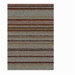 Stripy Knitted Wool Fabric Texture Large Garden Flag (two Sides)