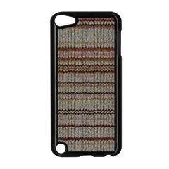 Stripy Knitted Wool Fabric Texture Apple Ipod Touch 5 Case (black)