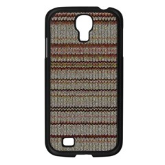 Stripy Knitted Wool Fabric Texture Samsung Galaxy S4 I9500/ I9505 Case (black)