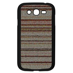Stripy Knitted Wool Fabric Texture Samsung Galaxy Grand Duos I9082 Case (black)