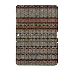 Stripy Knitted Wool Fabric Texture Samsung Galaxy Tab 2 (10 1 ) P5100 Hardshell Case
