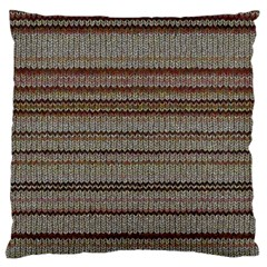 Stripy Knitted Wool Fabric Texture Large Flano Cushion Case (one Side)