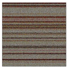 Stripy Knitted Wool Fabric Texture Large Satin Scarf (square)