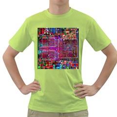 Technology Circuit Board Layout Pattern Green T Shirt
