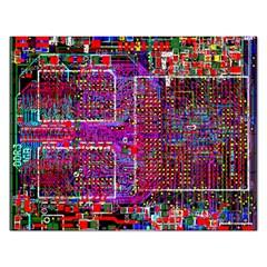Technology Circuit Board Layout Pattern Rectangular Jigsaw Puzzl