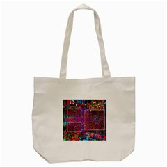 Technology Circuit Board Layout Pattern Tote Bag (cream)