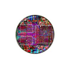 Technology Circuit Board Layout Pattern Hat Clip Ball Marker