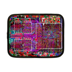 Technology Circuit Board Layout Pattern Netbook Case (small)