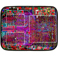 Technology Circuit Board Layout Pattern Double Sided Fleece Blanket (mini)
