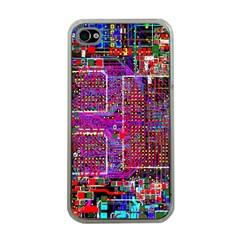 Technology Circuit Board Layout Pattern Apple Iphone 4 Case (clear)
