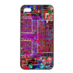 Technology Circuit Board Layout Pattern Apple Iphone 4/4s Seamless Case (black)