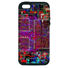 Technology Circuit Board Layout Pattern Apple Iphone 5 Hardshell Case (pc+silicone)