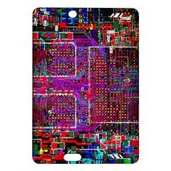 Technology Circuit Board Layout Pattern Amazon Kindle Fire Hd (2013) Hardshell Case