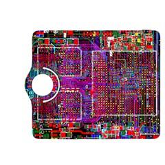 Technology Circuit Board Layout Pattern Kindle Fire Hdx 8 9  Flip 360 Case