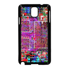 Technology Circuit Board Layout Pattern Samsung Galaxy Note 3 Neo Hardshell Case (black)