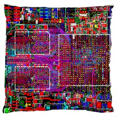 Technology Circuit Board Layout Pattern Standard Flano Cushion Case (two Sides)