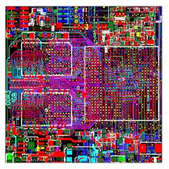 Technology Circuit Board Layout Pattern Large Satin Scarf (square)