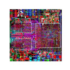 Technology Circuit Board Layout Pattern Small Satin Scarf (square)