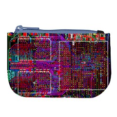 Technology Circuit Board Layout Pattern Large Coin Purse