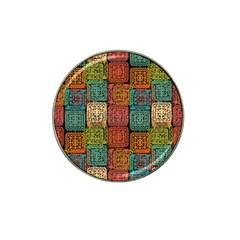 Stract Decorative Ethnic Seamless Pattern Aztec Ornament Tribal Art Lace Folk Geometric Background C Hat Clip Ball Marker (10 Pack)