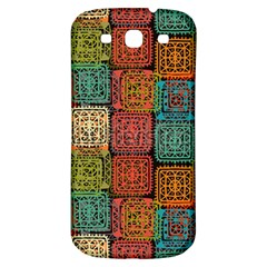 Stract Decorative Ethnic Seamless Pattern Aztec Ornament Tribal Art Lace Folk Geometric Background C Samsung Galaxy S3 S Iii Classic Hardshell Back Case