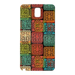 Stract Decorative Ethnic Seamless Pattern Aztec Ornament Tribal Art Lace Folk Geometric Background C Samsung Galaxy Note 3 N9005 Hardshell Back Case