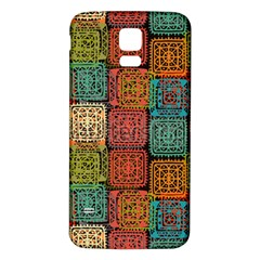 Stract Decorative Ethnic Seamless Pattern Aztec Ornament Tribal Art Lace Folk Geometric Background C Samsung Galaxy S5 Back Case (white)