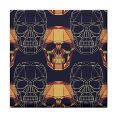 Skull Pattern Tile Coasters