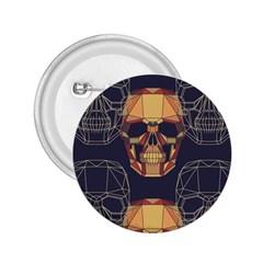 Skull Pattern 2 25  Buttons