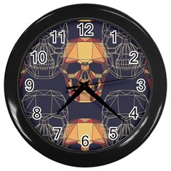 Skull Pattern Wall Clocks (black)