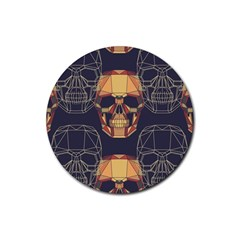 Skull Pattern Rubber Round Coaster (4 Pack)