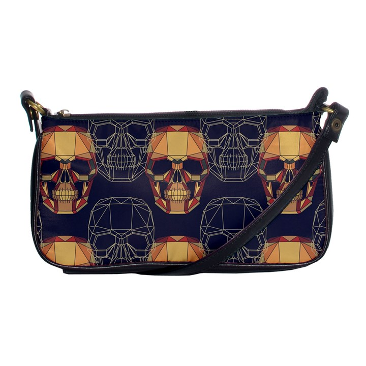 Skull Pattern Shoulder Clutch Bags