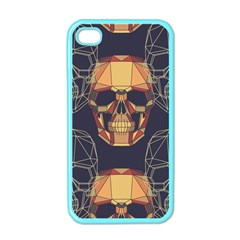 Skull Pattern Apple Iphone 4 Case (color)