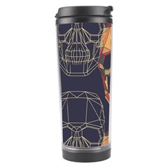 Skull Pattern Travel Tumbler