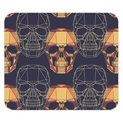 Skull Pattern Double Sided Flano Blanket (small)