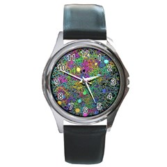 Starbursts Biploar Spring Colors Nature Round Metal Watch