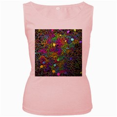 Starbursts Biploar Spring Colors Nature Women s Pink Tank Top