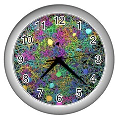Starbursts Biploar Spring Colors Nature Wall Clocks (silver)