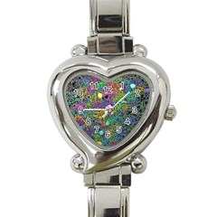 Starbursts Biploar Spring Colors Nature Heart Italian Charm Watch