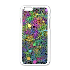 Starbursts Biploar Spring Colors Nature Apple Iphone 6/6s White Enamel Case