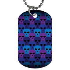 Skull Pattern Wallpaper Dog Tag (two Sides)