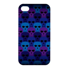 Skull Pattern Wallpaper Apple Iphone 4/4s Premium Hardshell Case