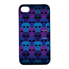 Skull Pattern Wallpaper Apple Iphone 4/4s Hardshell Case With Stand