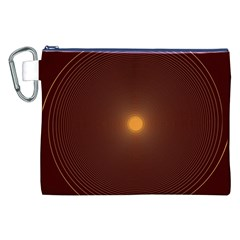 Spiral Vintage Canvas Cosmetic Bag (xxl)