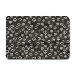 Skull Halloween Background Texture Small Doormat