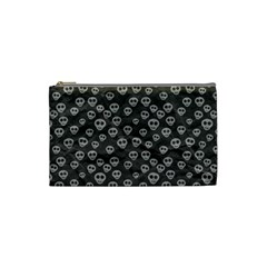 Skull Halloween Background Texture Cosmetic Bag (small)