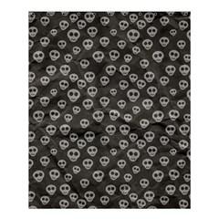 Skull Halloween Background Texture Shower Curtain 60  X 72  (medium)