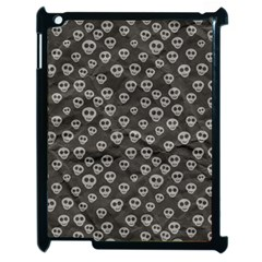 Skull Halloween Background Texture Apple Ipad 2 Case (black)