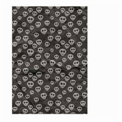 Skull Halloween Background Texture Large Garden Flag (two Sides)