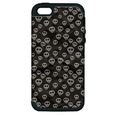 Skull Halloween Background Texture Apple Iphone 5 Hardshell Case (pc+silicone)
